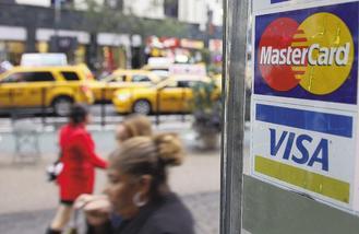 信用卡持卡人刷卡情況比去年踴躍,Visa上季獲利成長超過五成。美聯社.jpg