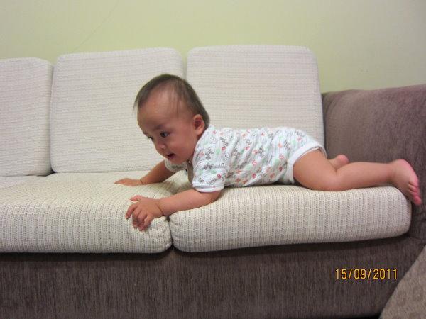 0915看我下沙發-身體趴好