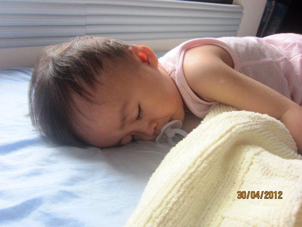 0430寶寶下午終於退燒了