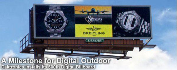 Daktronics在芝加哥地鐵站區附近架設的第500個數位廣告看板.jpg