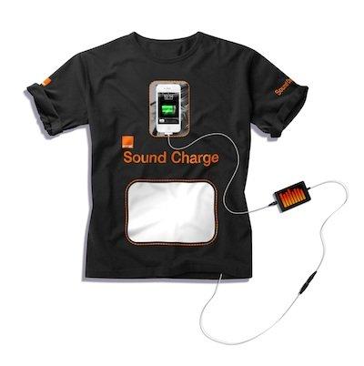 只要夠吵,就不怕手機沒電 - 靠聲音充電的「充電T-shirt」 越吵電力越強
