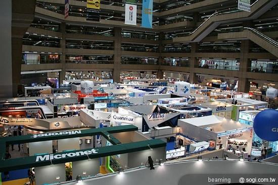 2009年COMPUTEX台北國際電腦展中首次設立的數位電子看板展覽專區