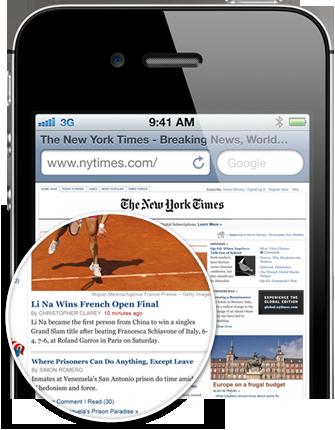 你在 iPhone 4S 上看到的一切,都會是最銳利、最亮麗的。Retina 顯示器是歷來最高解析度的手機螢幕。事實上,它的像素密度已經高到讓肉眼無法分辨出個別的像素,但毫無疑問,你將能看到清