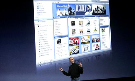 蘋果在2003年推出iTunes線上音樂商店,對數位音樂收費,現在iTunes已經是全球最大線上音樂零售商。