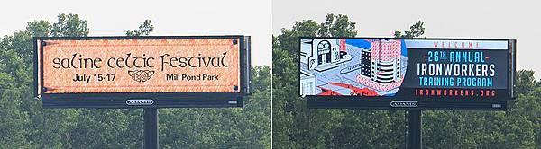 數位看板,是一種以電腦控制數位影像動態顯示內容的電子看板。數位看板主要用於商業廣告,但有時候用於公共服務場合。