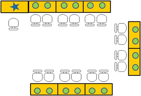 幼稚園小型電腦教室規劃之電腦教學廣播系統 - 應用在幼稚園托兒所的環狀連結,將老師在電腦操作影音播放16個學生電腦上