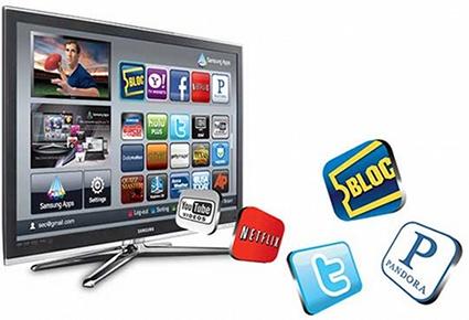 智慧電視(Smart TV) 為搭載作業系統的網路電視(Internet TV),網路電視除了具備上網功能,同時提供網路服務平台,若導入作業系統(OS),如Google的Android及Apple的iOS,即為智慧型電視。