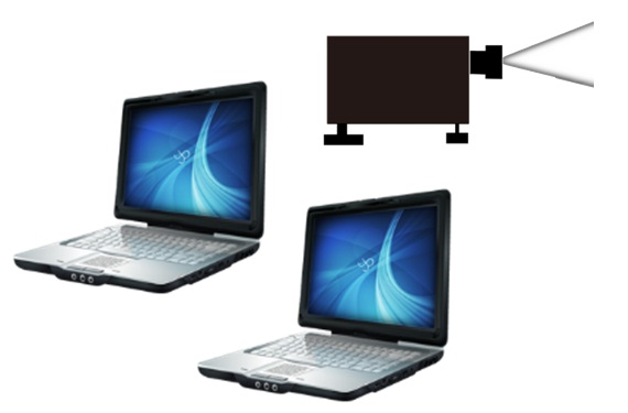 多筆電連結投影機方案