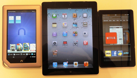 iPad and KindleFire