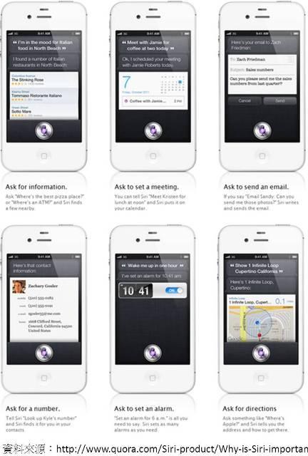極具話題性的iPhone 4S新功能 「Siri智慧語音行動助理」,為人工智慧與語音辨識技術帶來對話介面、個人情境感知以及服務委派等三項技術項目的新變革。