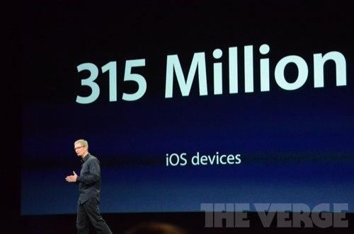 而到現在為止,蘋果已賣出3.15億台iOS產品