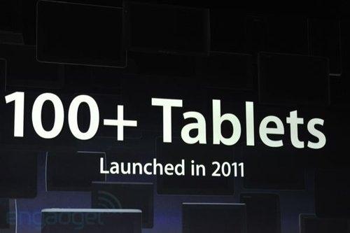 2011年超過100款平板電腦發表,卻沒有一個是iPad的對手