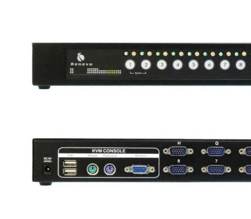 UltraKVM機架型 16埠USB&PS2雙介面KVM多電腦切換器 (VGA / USB&PS2)