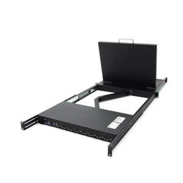 UltraKVM機架型雙控制端 8埠17吋彩色液晶顯示器PS/2 KVM電腦切換器