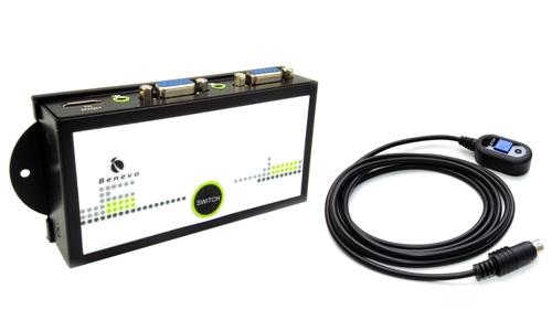 HDMI+VGA轉VGA自動影音切換器
