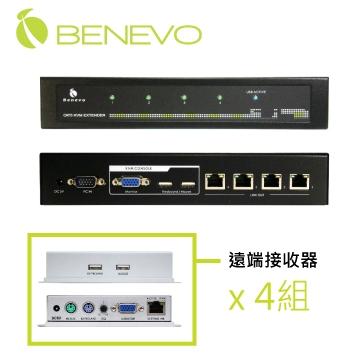 UltraKVM 4埠Cat5 USB VGA監控電腦控制端傳送器(200M)(BKVME204UT)