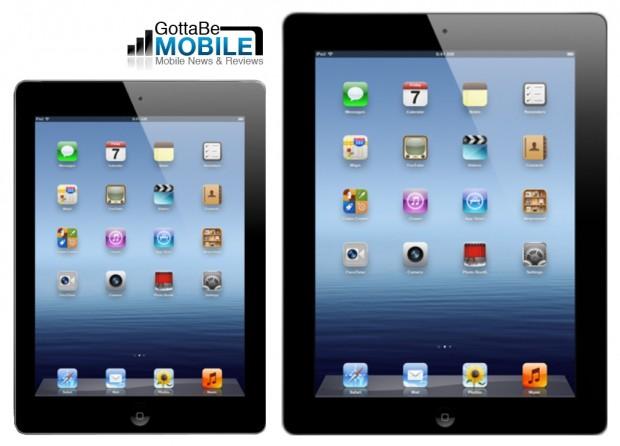 蘋果新產品的消息不斷,包括4吋的加大版iPhone,及縮小版的iPad Mini都是外界猜測蘋果可能發售的新商品。科技網站《Gotta Be Mobile》近日透露了最新消息,發布了iPhone 5及迷你iPad的樣品圖片。iPhone 5的尺吋長12公分、寬6公分,與目前新iPhone的傳言一致;迷你iPad則僅有原本iPad的3分之2大小,不但變小,體積也變得更輕薄。