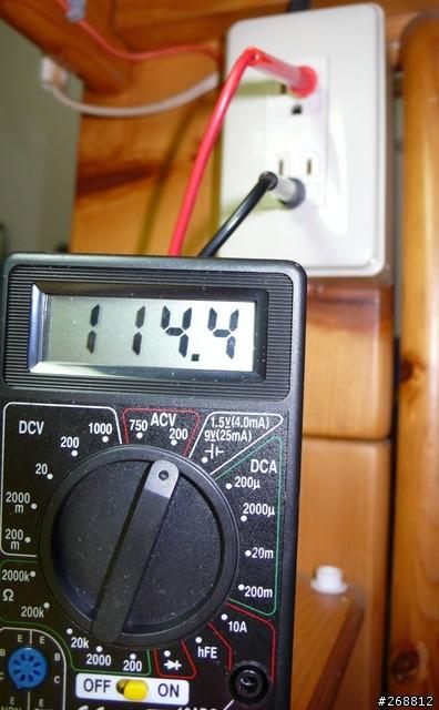 紅色插短孔黑色插長孔量火線與地線之間電壓,正常約115左右