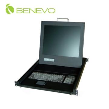 整合LCD螢幕;鍵盤與觸控板的三合一KVM中控台,可以精簡機房控制。