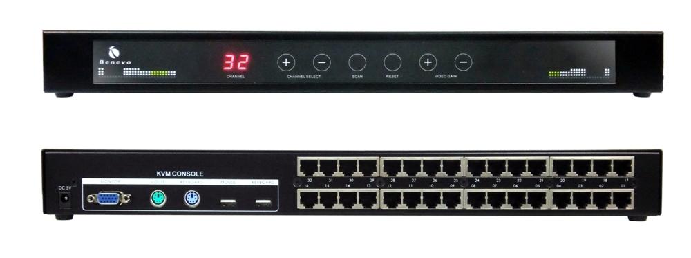 BENEVO推出企業級32埠Cat5 KVM多電腦切換器集中管理方案