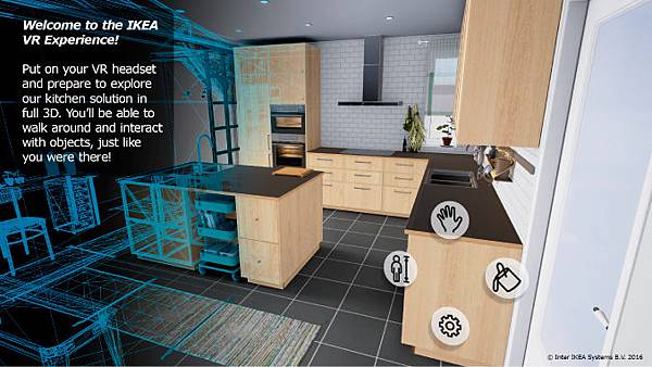 IKEA推出虛擬實境廚房,提供使用者親自體驗與現實生活中相同尺寸廚房的機會