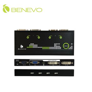支援DVI與VGA雙介面,讓您筆電可以輕鬆使用電腦的高畫質螢幕操作,並且共用多組USB2.0周邊