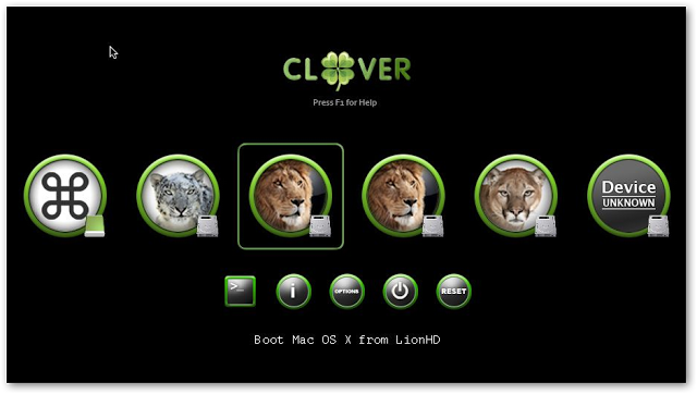 clover bootloader screen