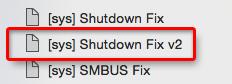 Shutdown FixV2