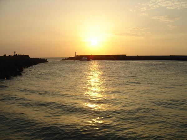 漁人碼頭的夕陽