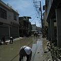 8.8水災賑災at林邊~四處都是淤泥...