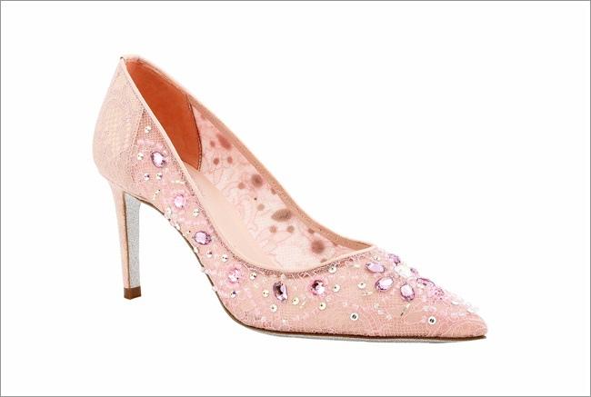 粉紅蕾絲飾水晶高跟鞋 NT$52,800-2.JPG