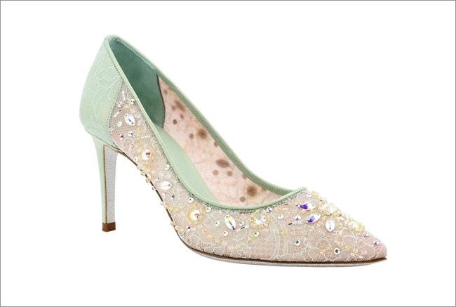 粉綠蕾絲飾水晶高跟鞋 NT$52,800-2.JPG