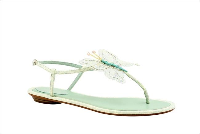 粉綠蕾絲鑽蝶平底鞋 NT$32,200.JPG