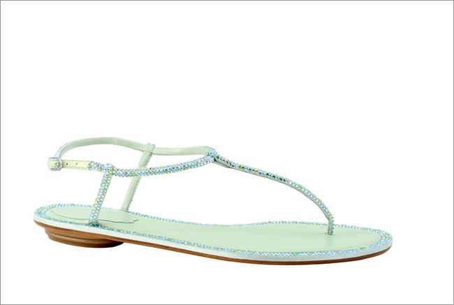粉綠鑲鑽T字涼鞋 NT$37,000.JPG