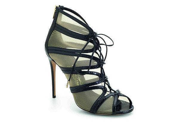AMBER黑色麂皮與蕾絲拼接高跟鞋, 建議售價NT34,500.jpg