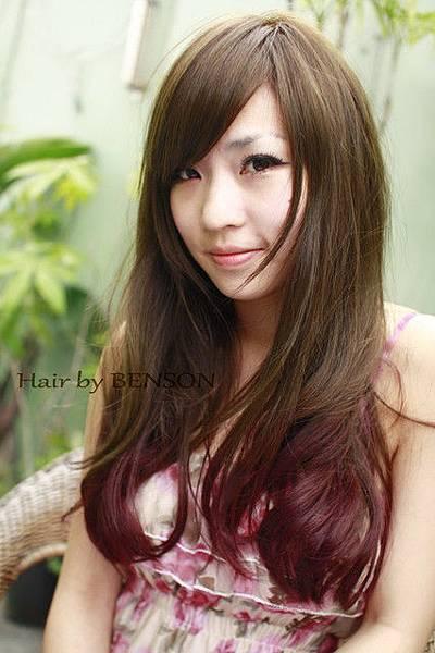 2011夏日流行髮型~雙層技術染茶棕色+葡萄紫.jpg