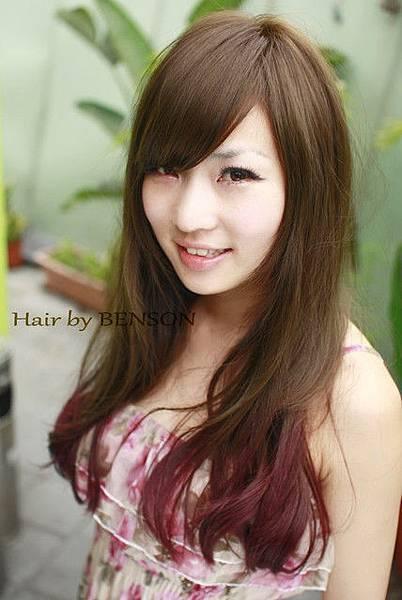 2011夏日流行髮型~雙層技術染~茶棕色+葡萄紫.jpg