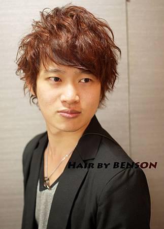 VIN示範日系型男潮流捲捲髮型+立體感挑染設計by尚洋BENSON