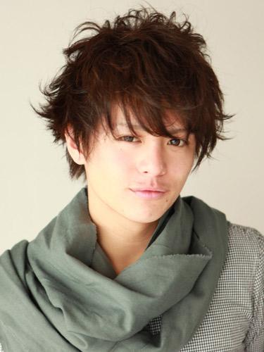 日系型男捲髮風格造型