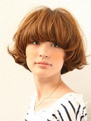 2012年短鮑伯混搭圓線感蓬鬆髮型+蜂蜜米色調A-1.jpg