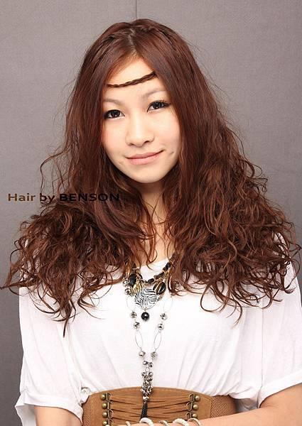 波希米亞公主風@溫朔燙長捲髮染髮造型設計