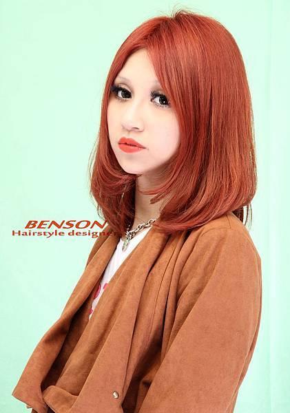 2012年獨創風格髮色'粉嫩橙'@娜娜示範