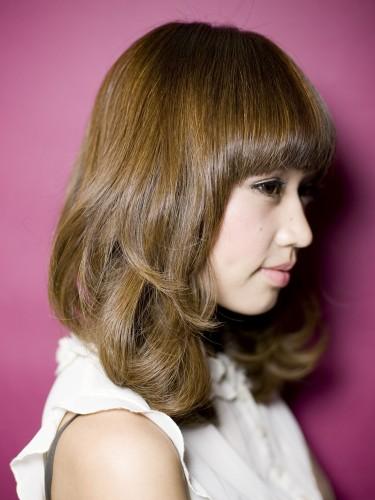 2012年春夏日系亮麗橙色媚眼髮型髮色A-2