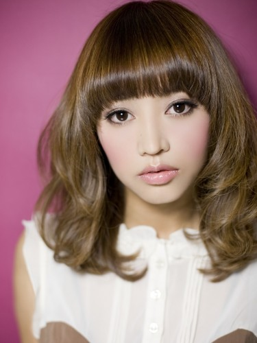 2012年春夏日系亮麗橙色媚眼髮型髮色A-1