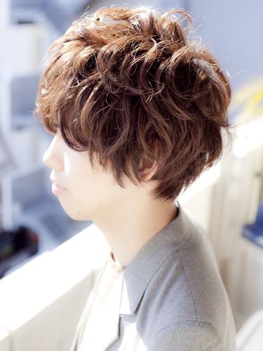 2012年日系潮流捲髮男生髮型搭A-2
