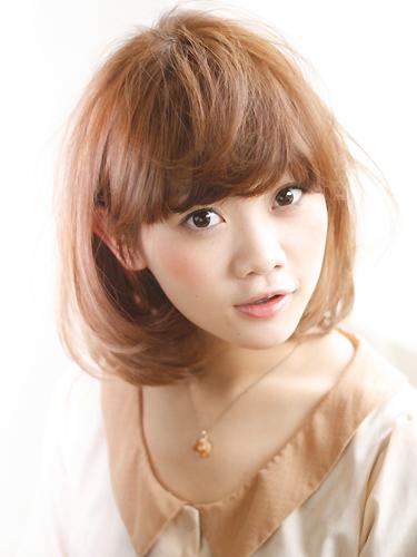 2012年清爽感鮑勃髮型搭配夏日亮眼棕橘髮色A-1
