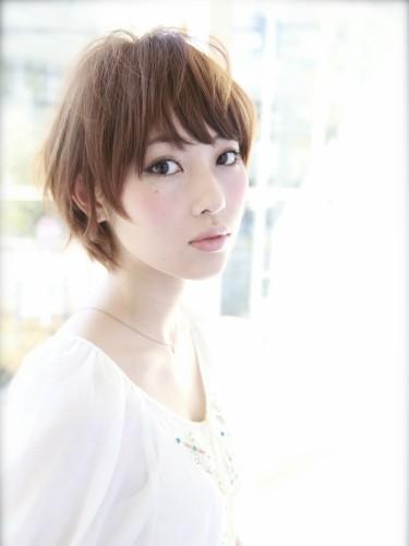 2012年清爽率性短髮髮型搭配夏日亮眼摩卡橘髮色A-1