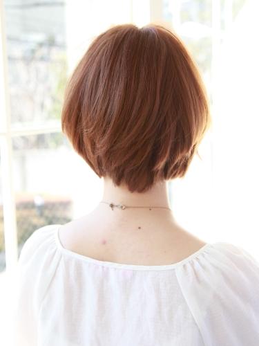 2012年清爽率性短髮髮型搭配夏日亮眼摩卡橘髮色A-3