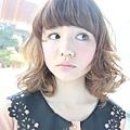 2012年可愛圓弧感咩咩頭瀏海髮型A-1