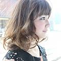 2012年可愛圓弧感咩咩頭瀏海髮型A-2